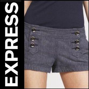 EXPRESS Navy Linen/Cotton Sailor Shorts!